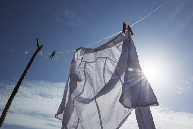 生臭い洗濯物