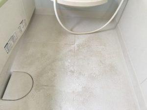お風呂の床の黒ずみ