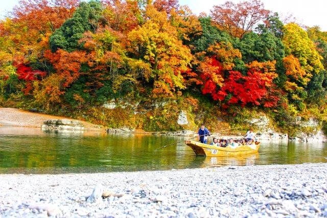 長瀞渓谷の紅葉